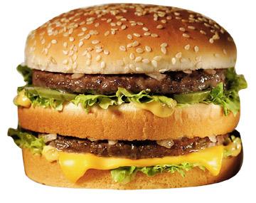 BigMac McDonals, foto publicitaria