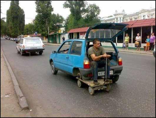 ruedas improvisadas