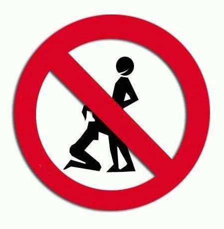 prohibido practicar