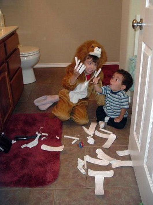 niños jugando tampax
