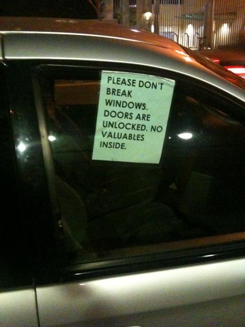 por favor no robar