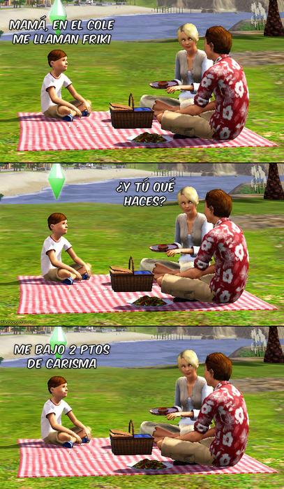 Un Sims que llega a casa y le dice a su madre.... 3