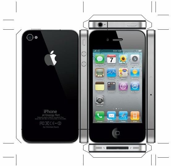 fabricar friki iphone 4 en papel