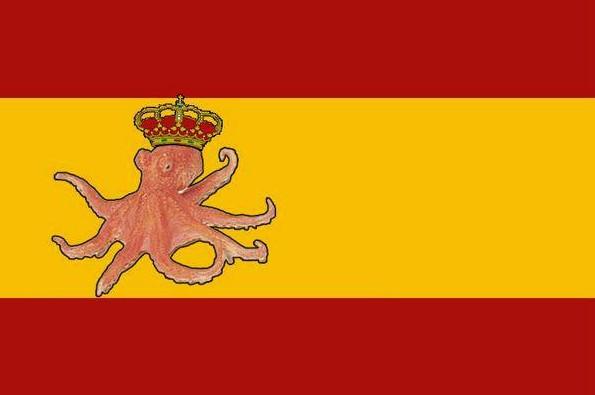 bandera de españa pulpo paul