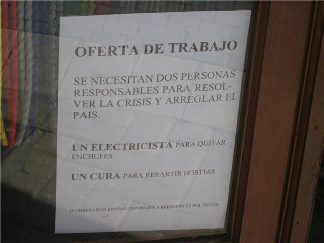 oferta de trabajo para salir de la crisis