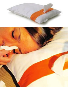almohada con panuelos