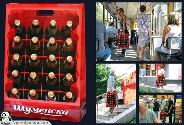 Bolsa original caja de botellines