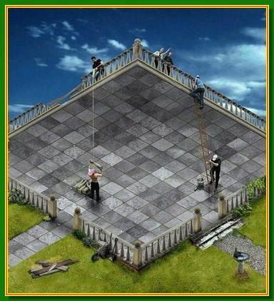 ilusiones opticas terraza