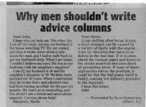por que los hombres no tienen que dar consejos en las revistas
