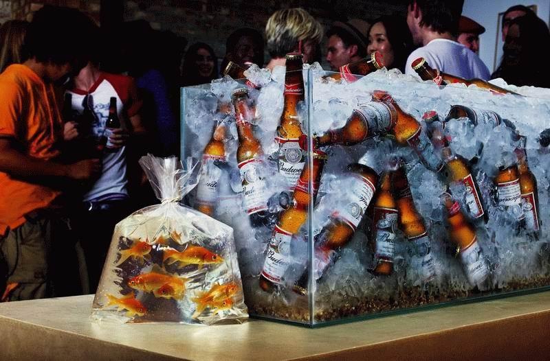 la cerveza fria