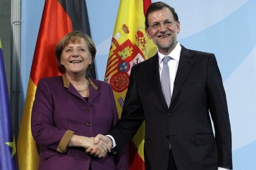 Rajoy, Merkel y la reina de Inglaterra 3