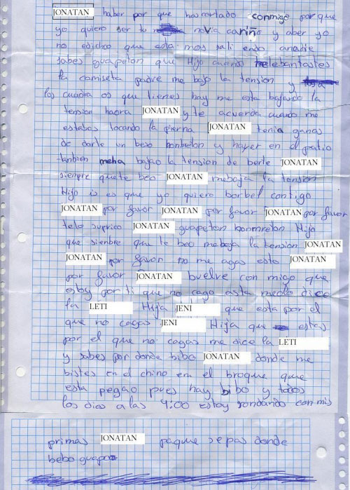 carta de amor buerbe