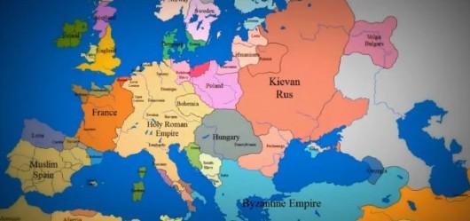 europa desde el 1000 hasta nuestros dias