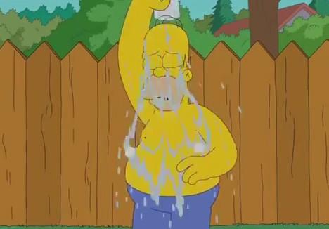 homer simpson ice bucket challenge