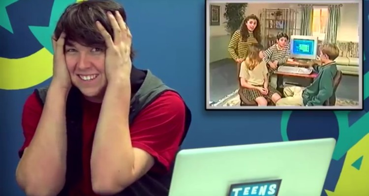 Videos graciosos, los adolescentes de hoy e Internet de los 90 2
