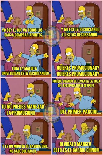 Fuente:  Los Simpson y la universidad