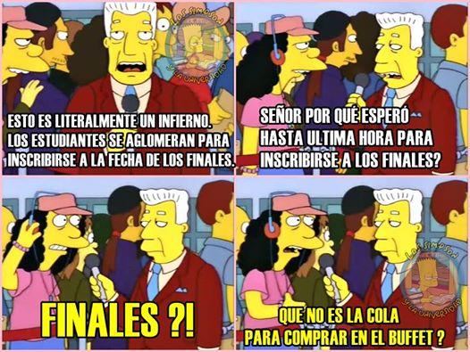 Chistes de Los Simpson y la universidad en Facebook 2