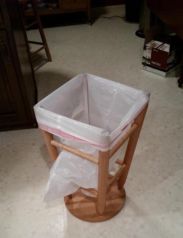 tirar de imaginación a la hora de crear un cubo de basura