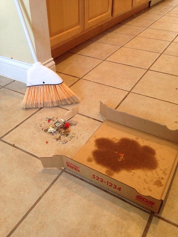 tirar de imaginación con la caja de pizza